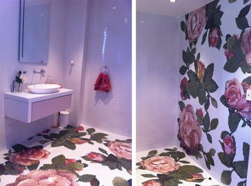 Декоративное панно для ванной Bisazza Spring Rosa