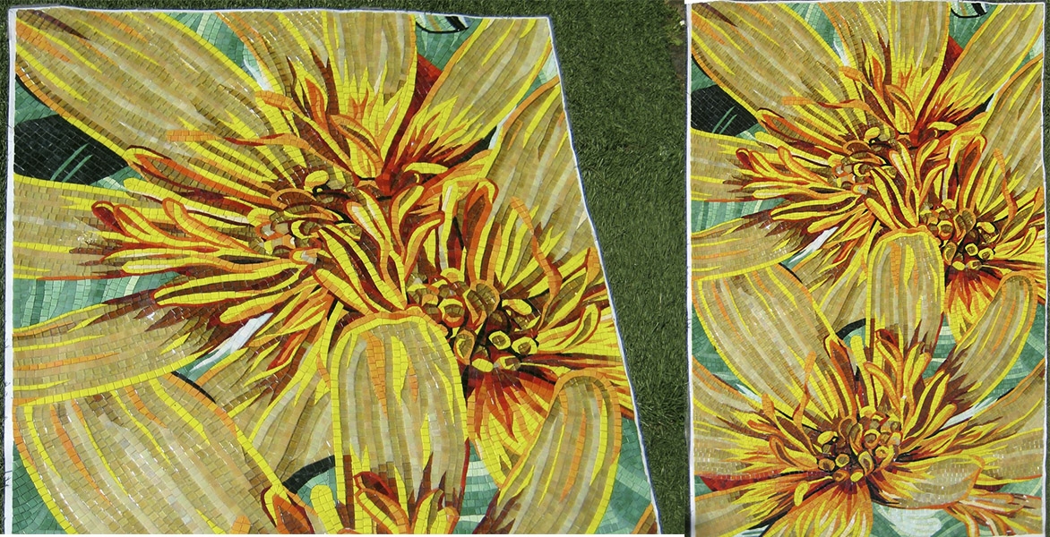 Mosaic-flower-Sicis-panno