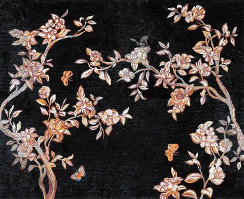 Mosaic-pattern-black-style