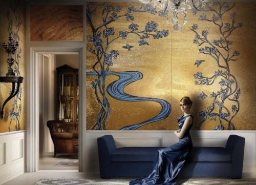 Mosaic-pattern-gold-style