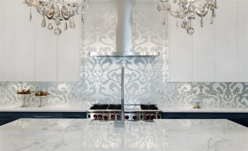 Mosaic-silver-backsplash