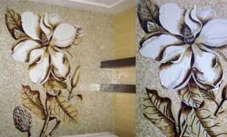 Mosaic_Flower_Brown_beige