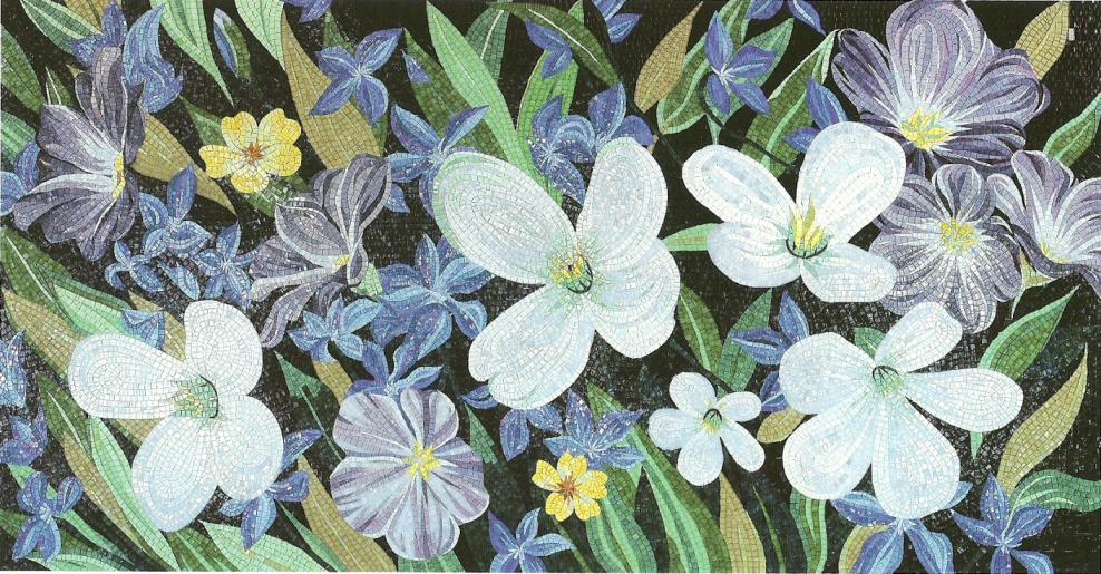 Мозаичное панно — Цветы