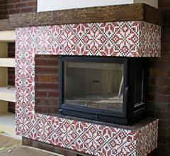 Мозаичный узор для камина