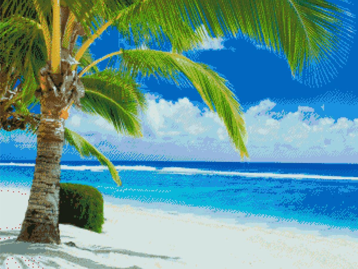 Мозаичное панно «Пальма»
