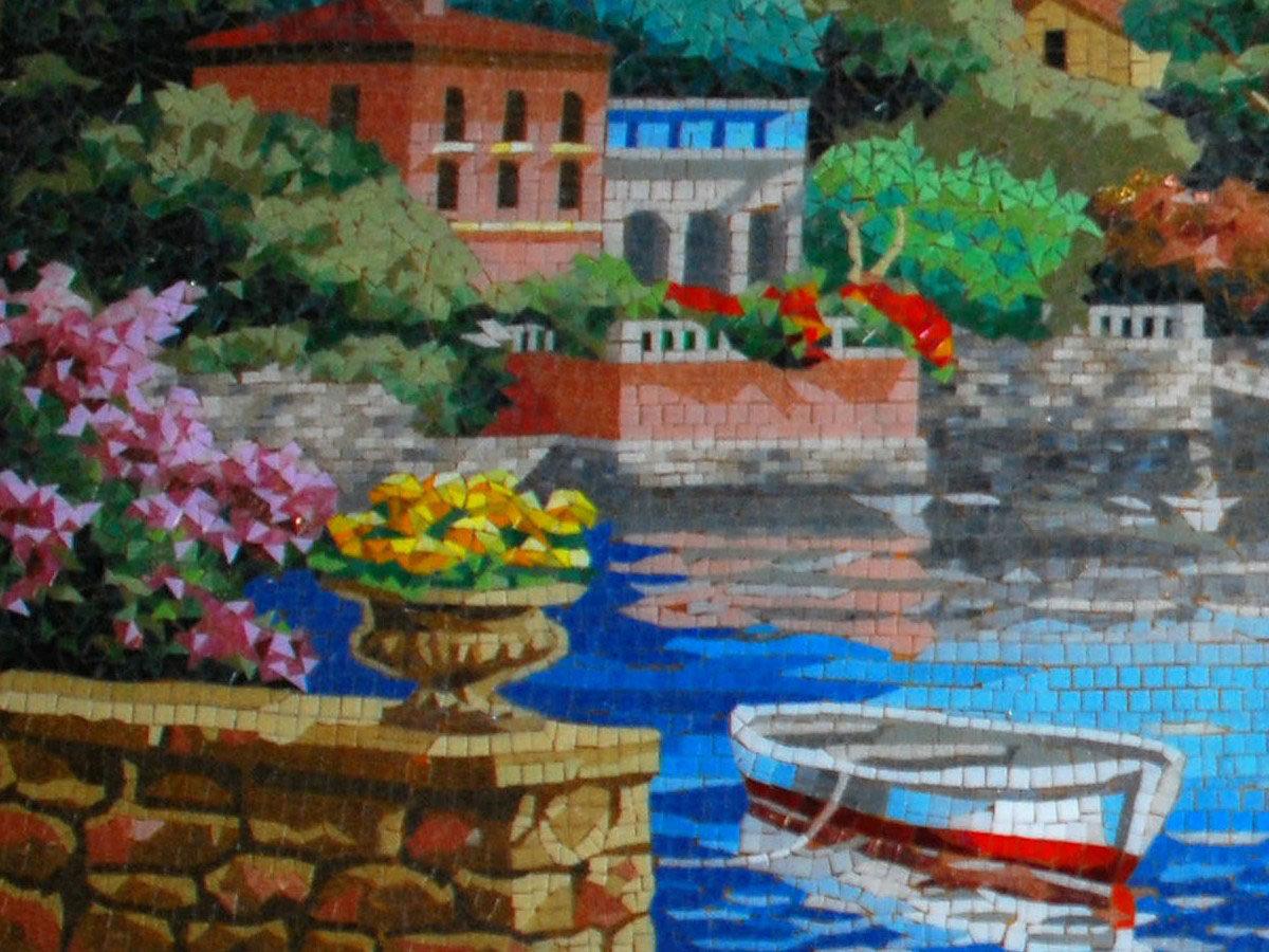 Мозаичная картина Пейзаж Италия