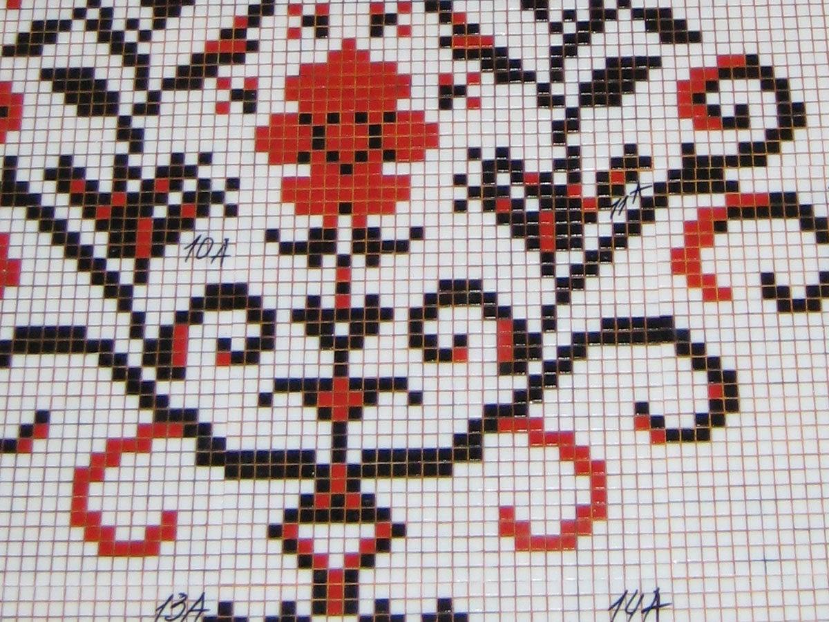 Панно из мозаики Цветочный Декор