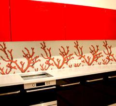 Фартук для кухни из мозаики Кораллы
