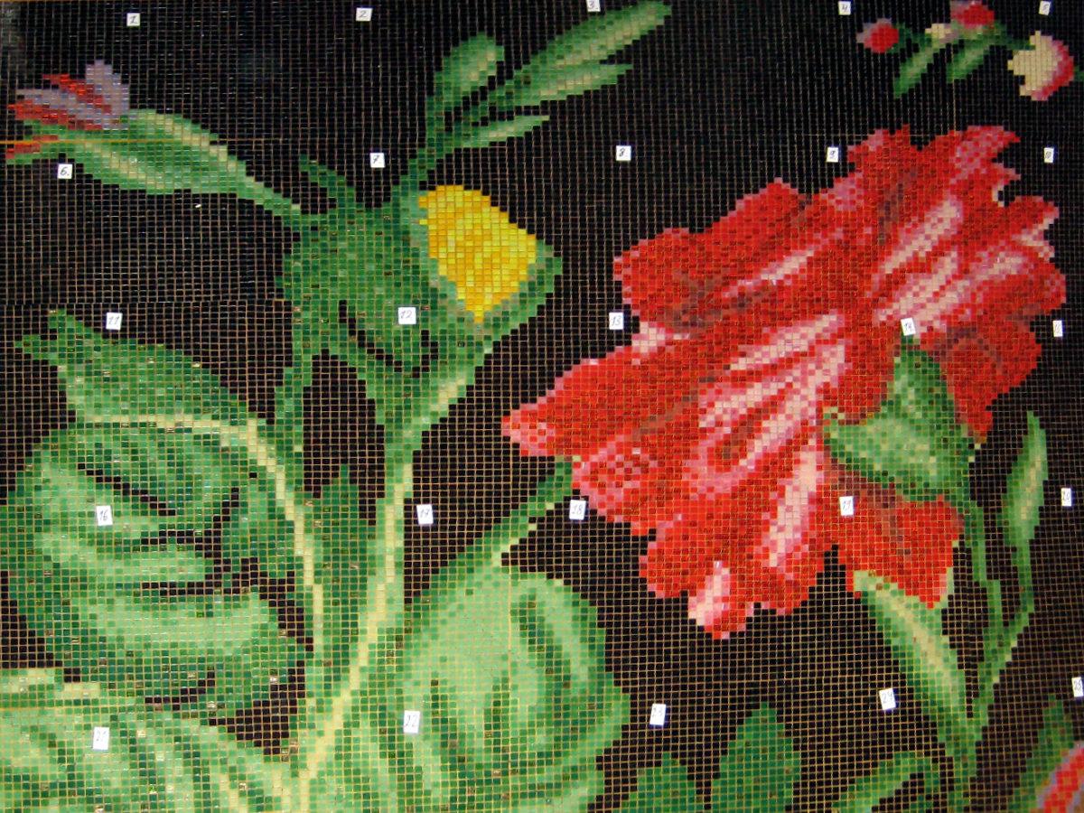 Мозаичные цветы