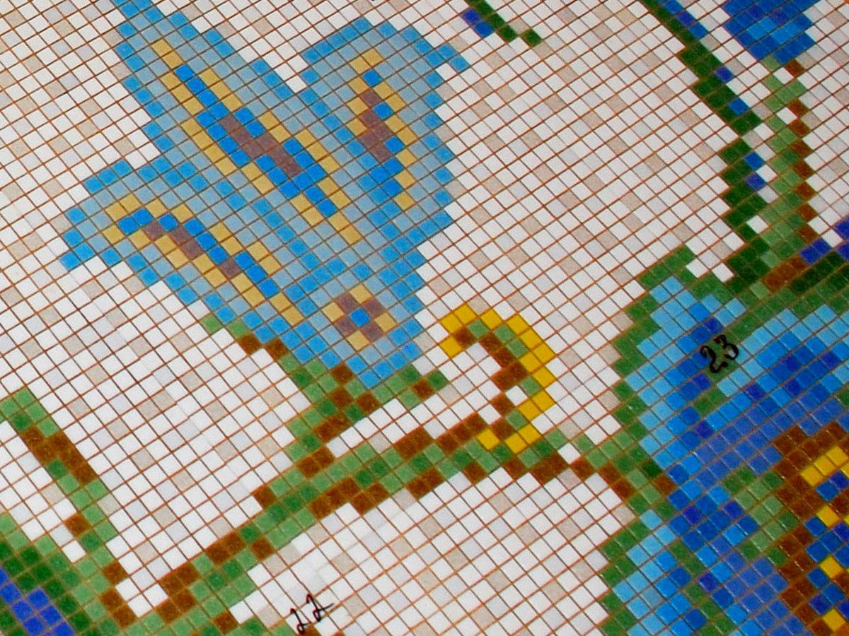 Мозаичное панно для ванной комнаты