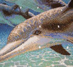 Панно из мозаики в бассейн