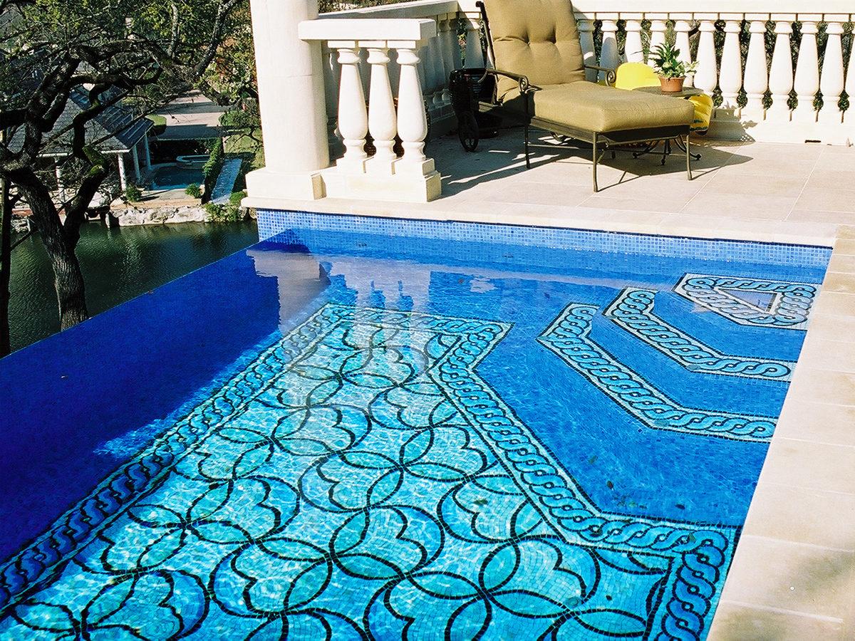 Панно из мозаики для бассейна