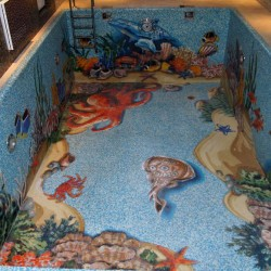 Мозаика для бассейна Коралловые рифы