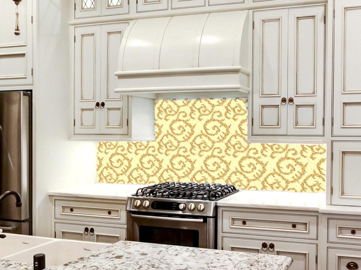 Мозаичное панно для кухни Классический узор