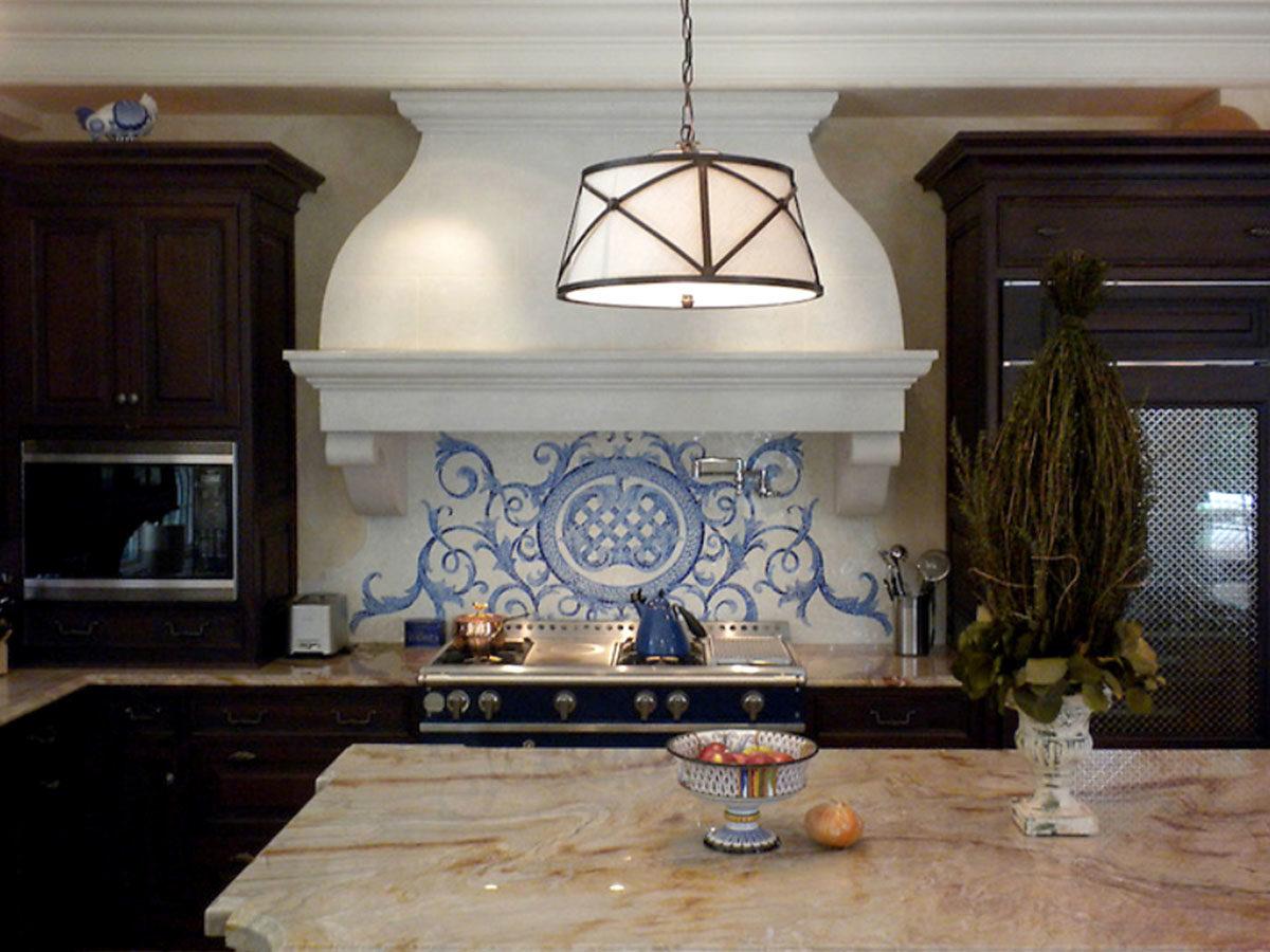 Мозаичное панно для кухни Valencia