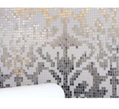 Узор из мозаики для кухни Damasko Silver