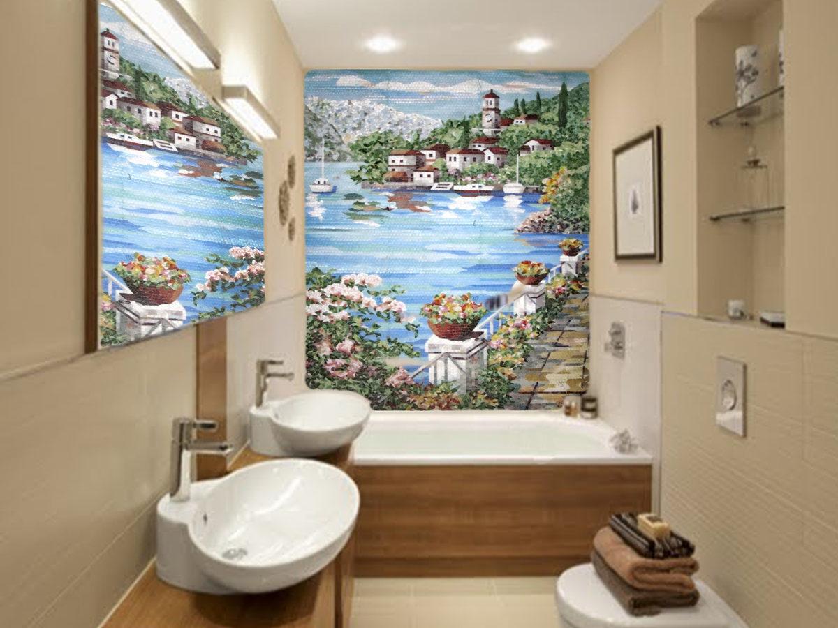 Мозаичное панно Italy