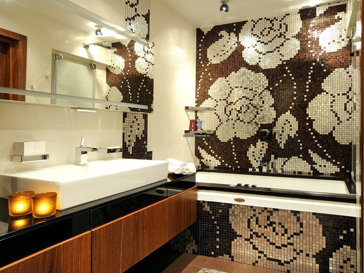 Декор из мозаики «Зимний цветок»