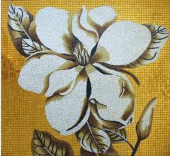 Панно из мозаики для ванной Gold Flower