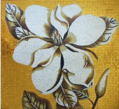 Мозаичное панно «Коричневый цветок»