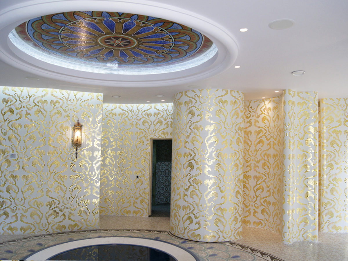 Микс из мозаики для хамама