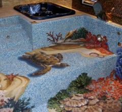 Панно в бассейн — коралловые рифы