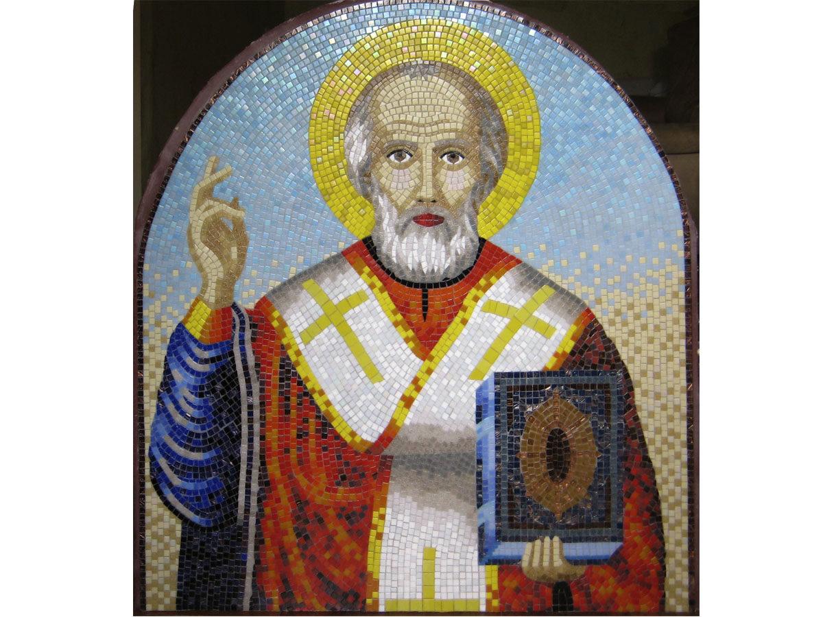 Мозаичная икона «Николай Чудотворец»