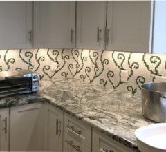 Мозаичное панно для кухни Водоросли