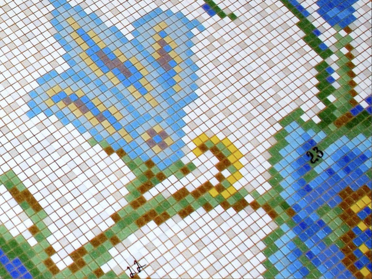 Декор из мозаики в хамаме
