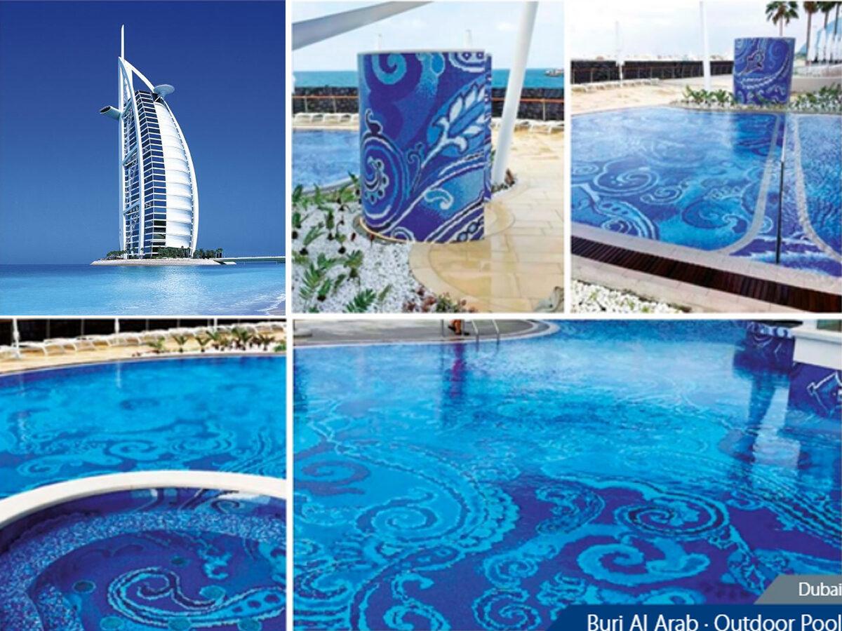 Мозаика для бассейна Dubai