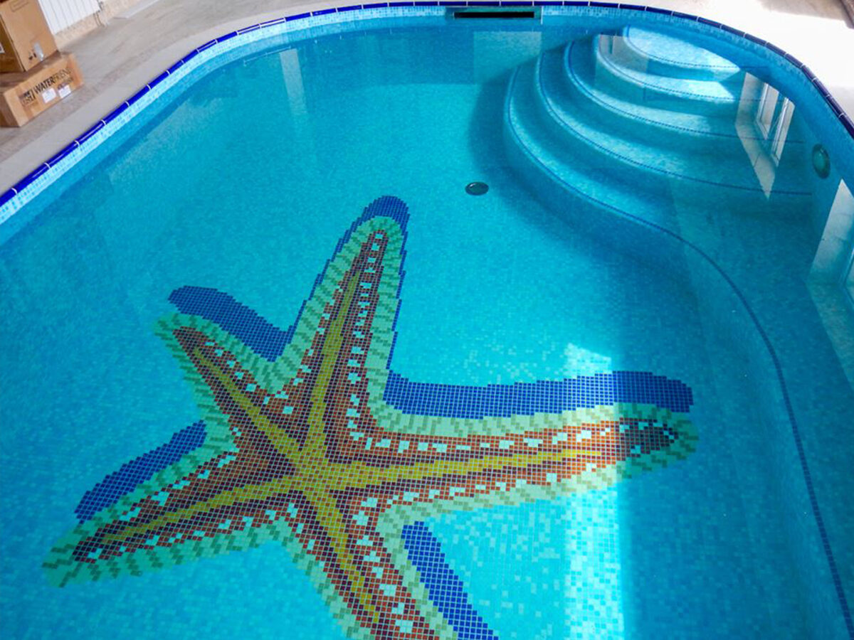 Панно из мозаики для бассейна Starfish