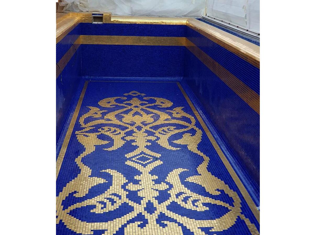 Мозаика для бассейна панно Halifa